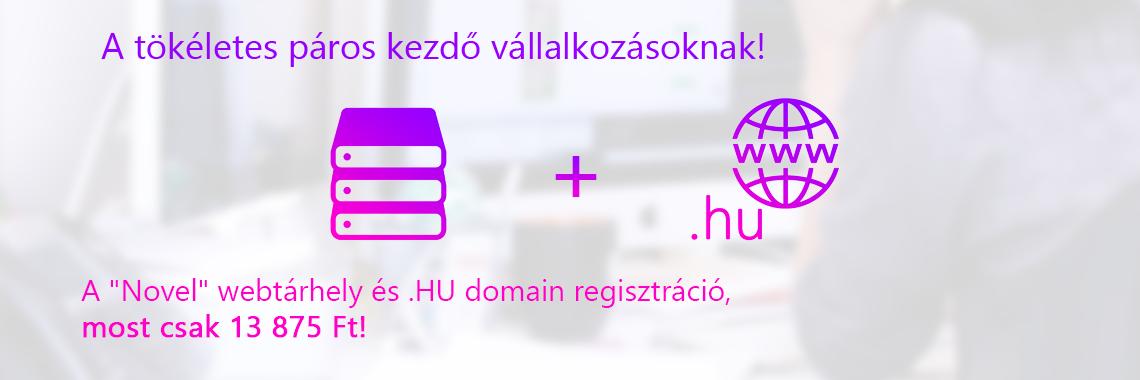 webtárhely és domain  csak 13 875 Ft!